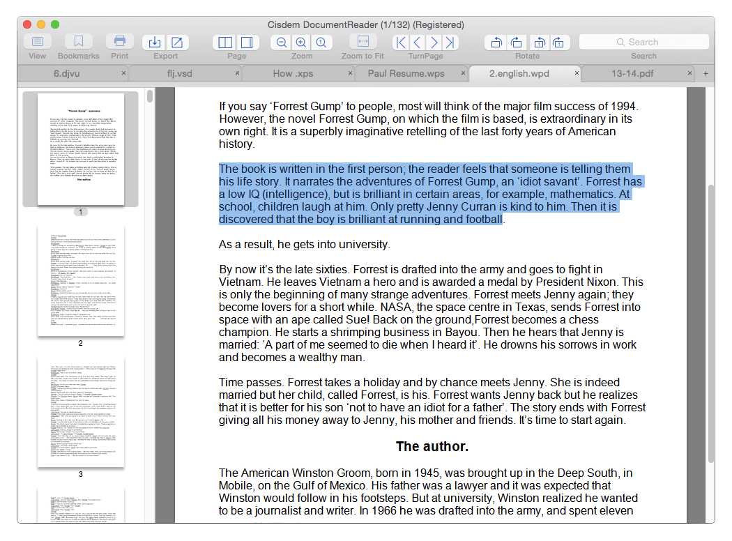 Cisdem Document Reader for Mac Shareware