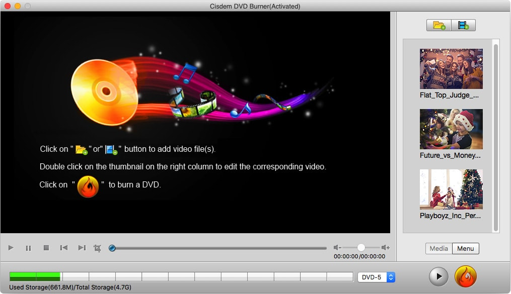 Cisdem DVD Burner for Mac interface
