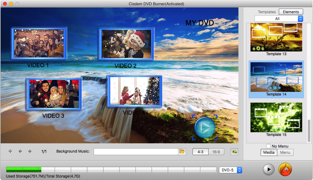 add music to video with cisdem dvd burner for mac 02