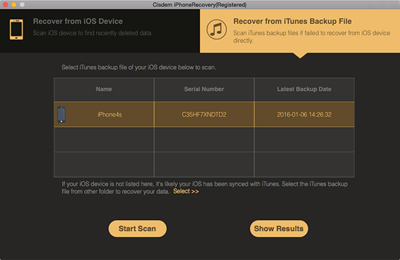 Restore deleted calendar events via iTunes back up