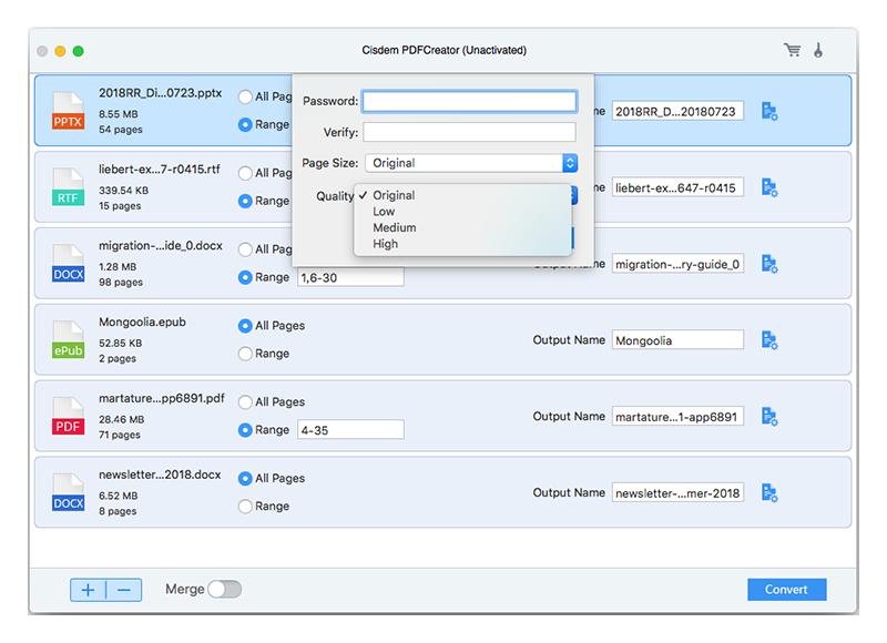 Cisdem PDF Creator Mac 破解版 PDF格式批量转换工具-麦氪搜(iMacso.com)