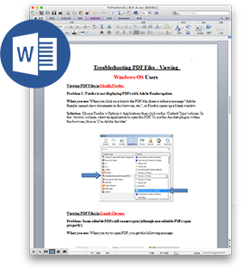 how to change a pdf to a word document mac