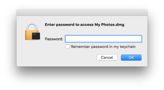 enter password to unlock photos