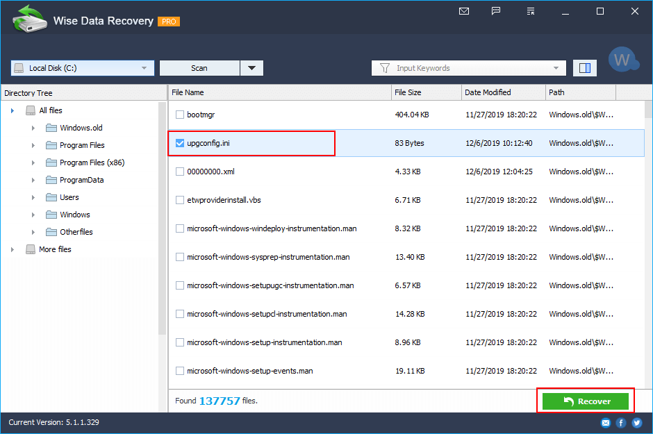 wide recover hidden files 02