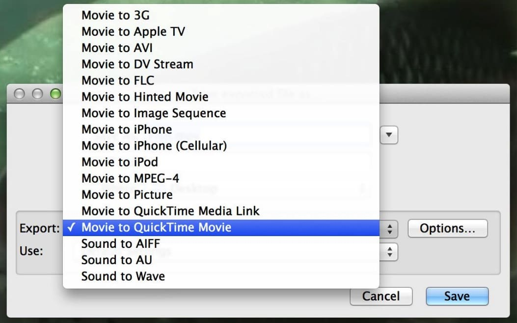 turn avi into mp4 mac quicktime 7 pro