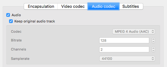 maintain audio track vlc