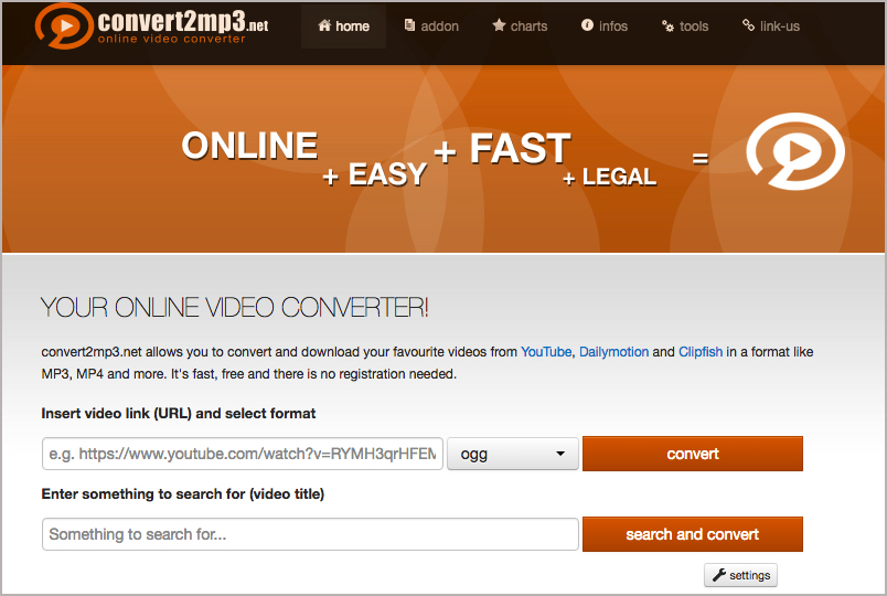 Online YouTube To OGG Converter- Convert2mp3