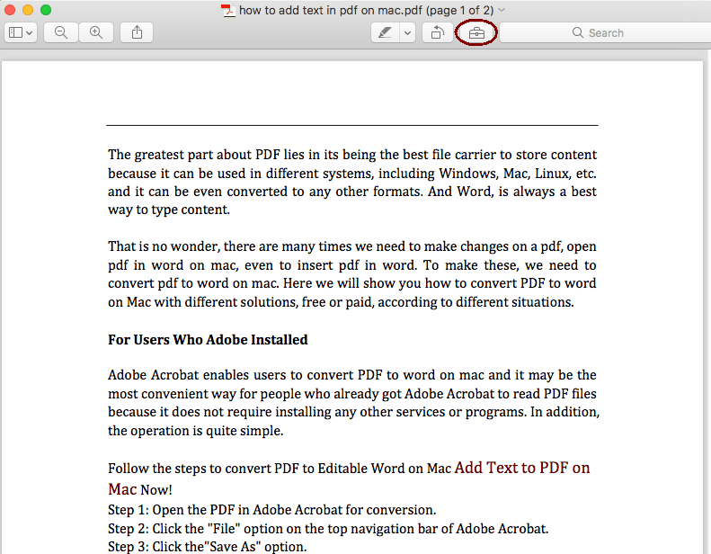 How to Add Page Numbers to PDF on Mac without Adobe Acrobat