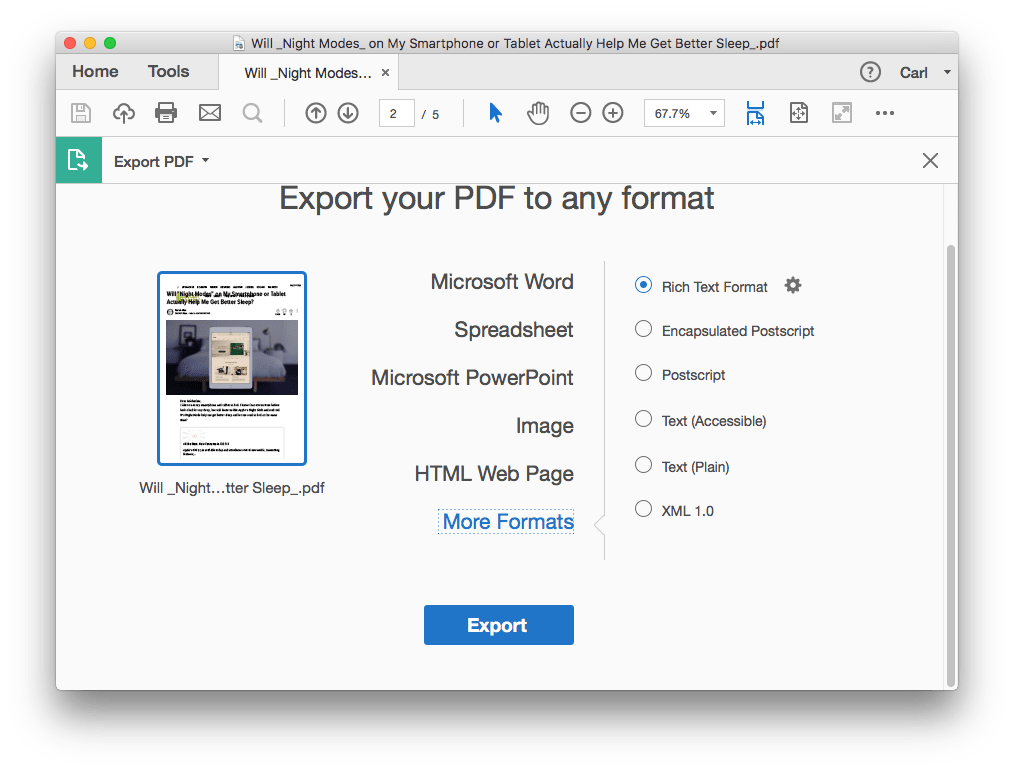 convert pdf to word on mac adobe 02