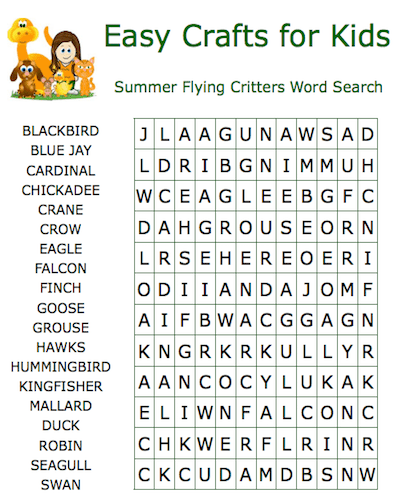 summer word search 22