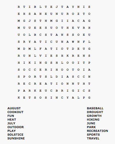 summer word search 32