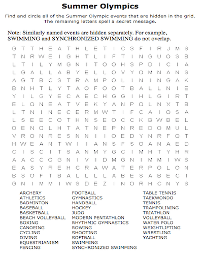 summer word search 34