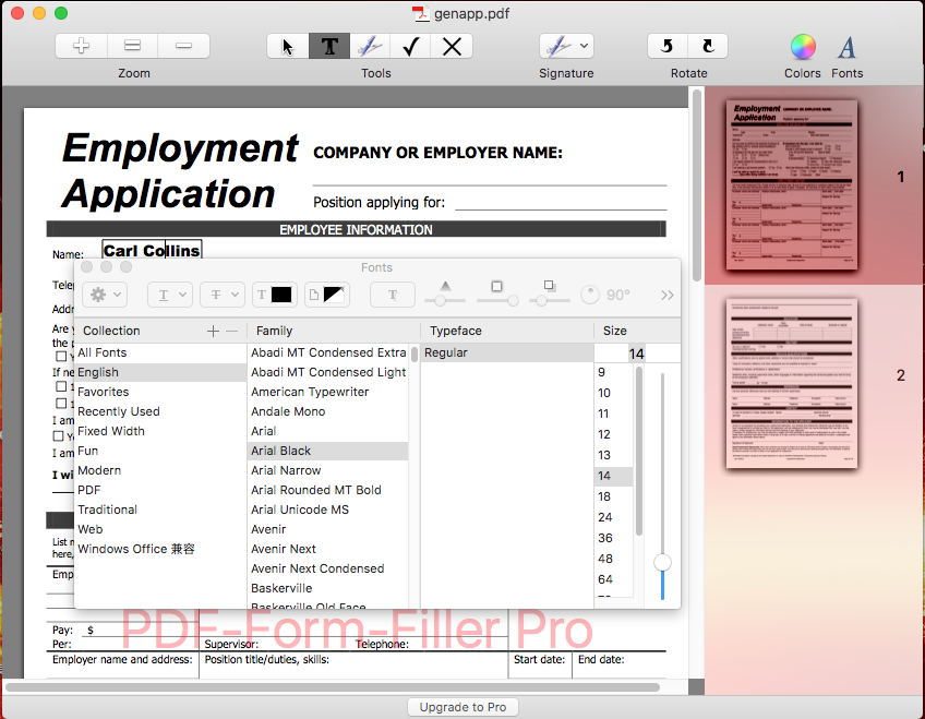 How to Change Font Size in PDF Form on Mac for Free?