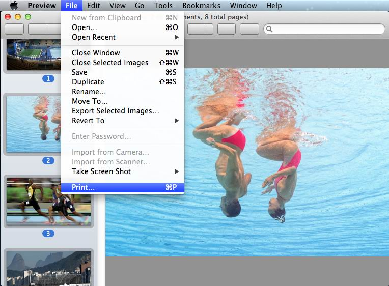 use preview to convert and combine multiple images into a PDF