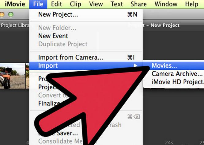 How to Burn MP4 to DVD on Mac via iMovie 1