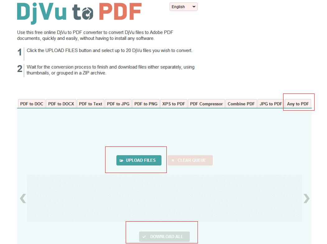 Change DjVu to PDF on Mac Using Online Converter