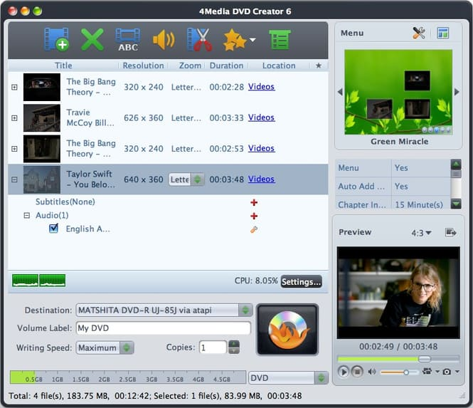 Professional dvd authoring software