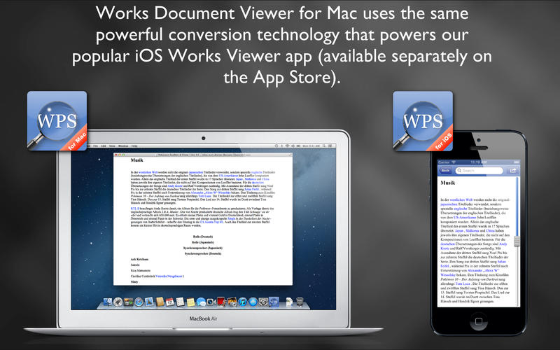 Works Document Viewer for Mac