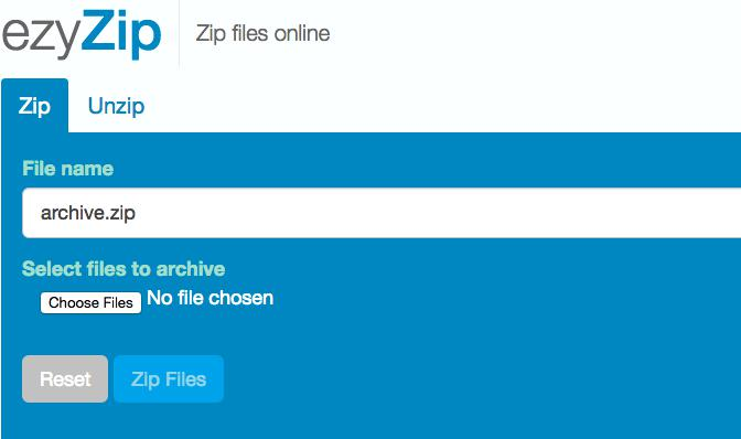 Online File Compressor Four- ezyZip