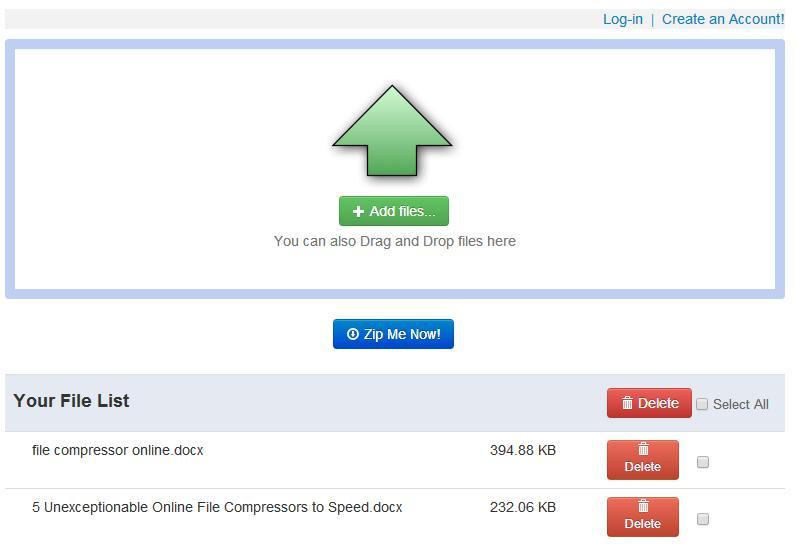 Online File Compressor Six- ZipMeNow