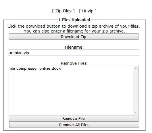 Online File Compressor Seven- CreateZipFiles