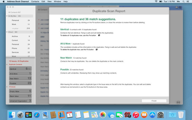 Solutions Four to Merge or Remove Duplicate Contacts on Mac
