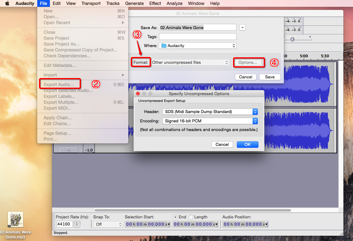 Convert MP3 to MIDI with Audacity Step Two