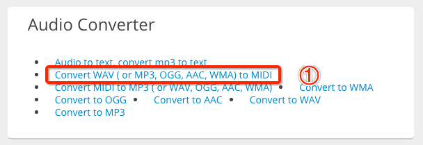 Convert MP3 to MIDI Online Step One