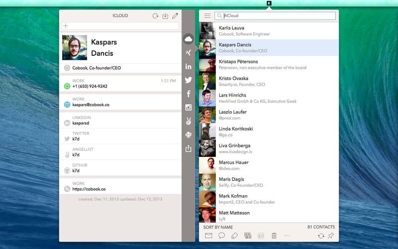 Cobook interface