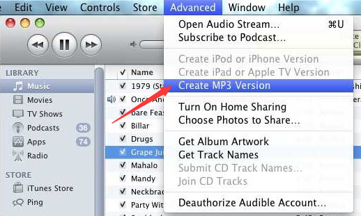 How to Convert WAV to MP3 with iTunes Step 4
