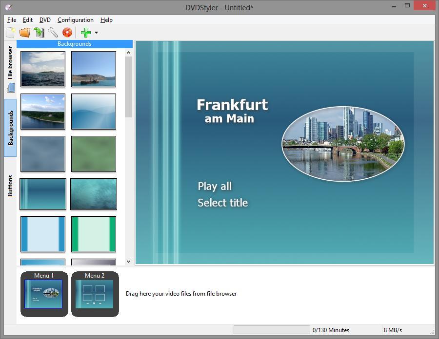 Best DVD Authoring Software Mac- DVDStyler