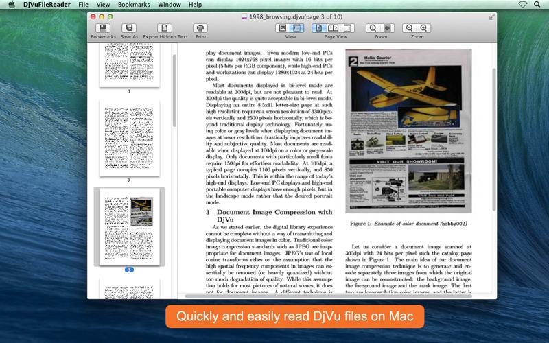 DjVuFileReader for Mac