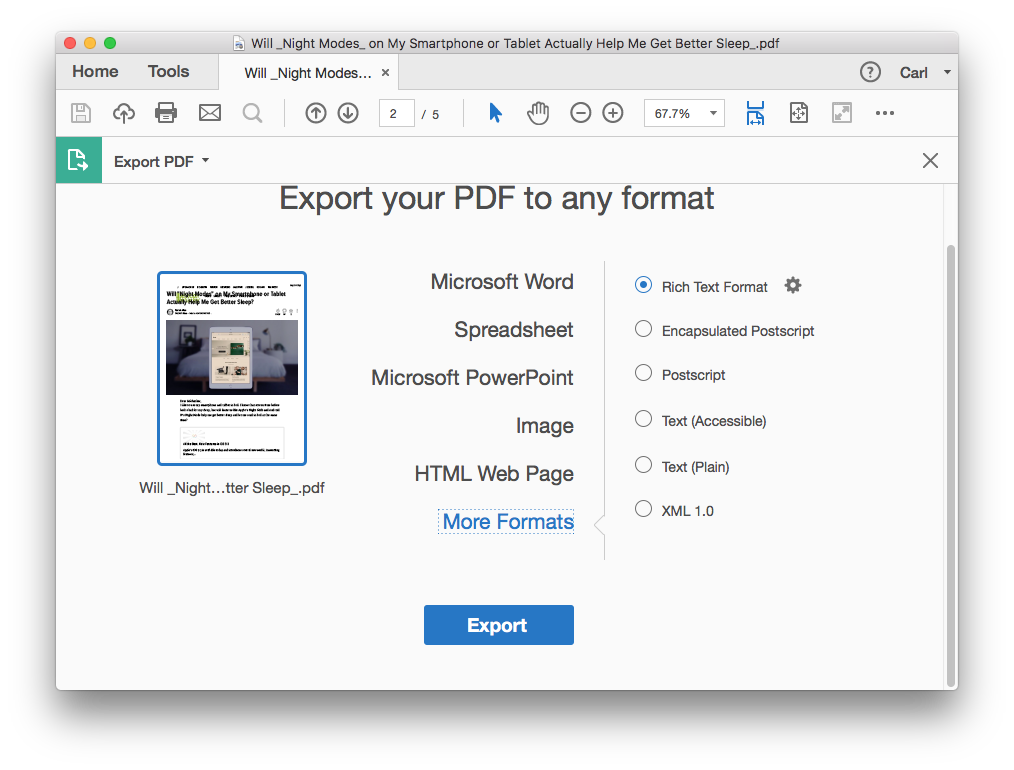 convert scanned pdf to excel on mac with adobe 03