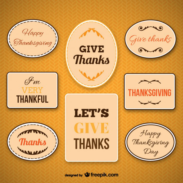 free thanksgiving labels pack in vector format - Free Thanksgiving Cards