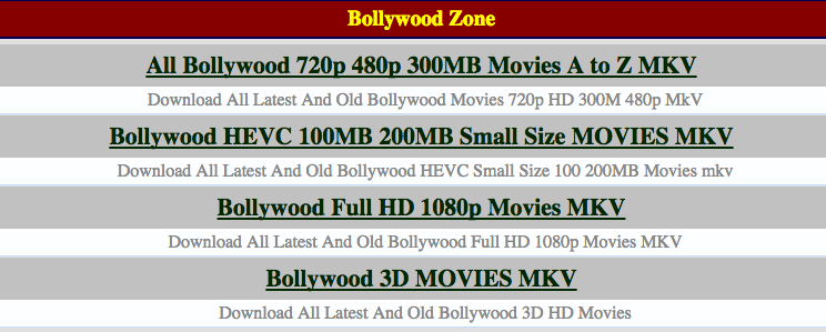 Best Alternative Sites to Filmywap- Bollywood Hindi MP4/ MKV