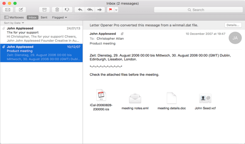 winmail.dat converter for mac mail
