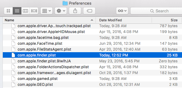 Delete Corrupt Finder Preferences Files