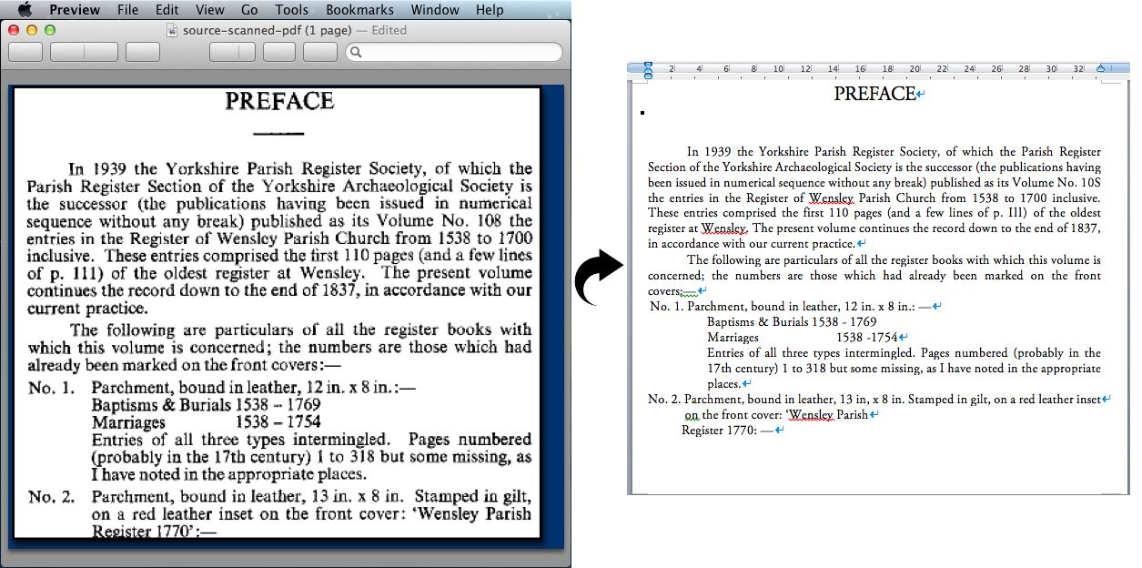 convert scanned pdf with abudant text to nicely formatting word with cisdem