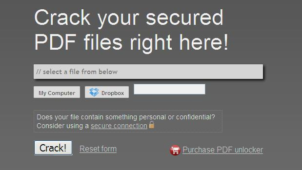 top 5 PDF Password Cracker online01