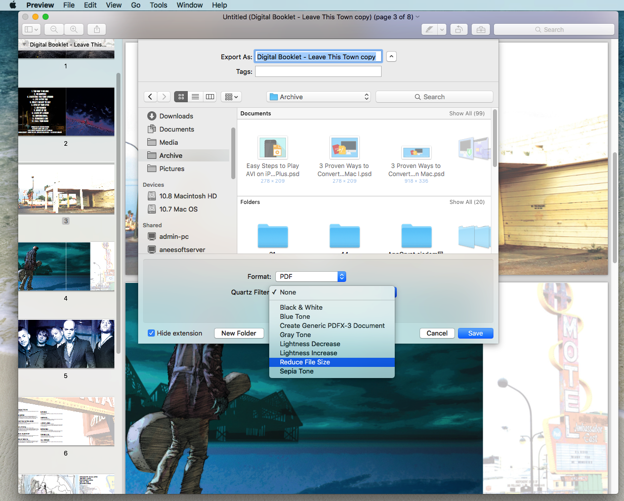 How to reduce pdf file size on mac with or without preview reduce pdf file size on mac with preview 03 ccuart Images