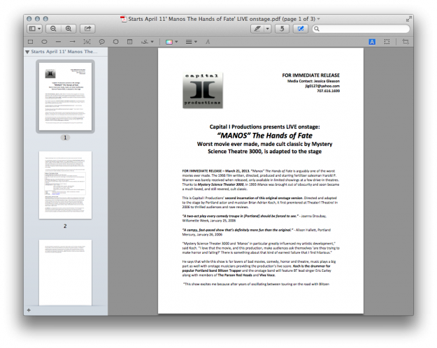 PDF Reader for Mac Two: Preview