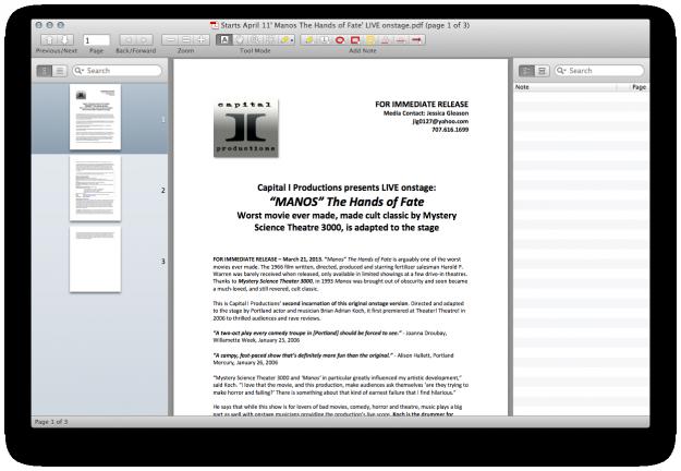 PDF Reader for Mac Four: Skim