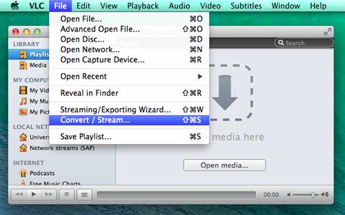 best video converter mac- vlc
