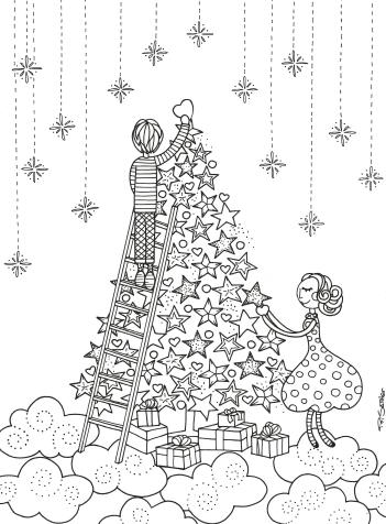 christmas 2020 40 free printable christmas tree coloring