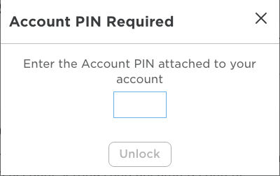 Account PIN Required