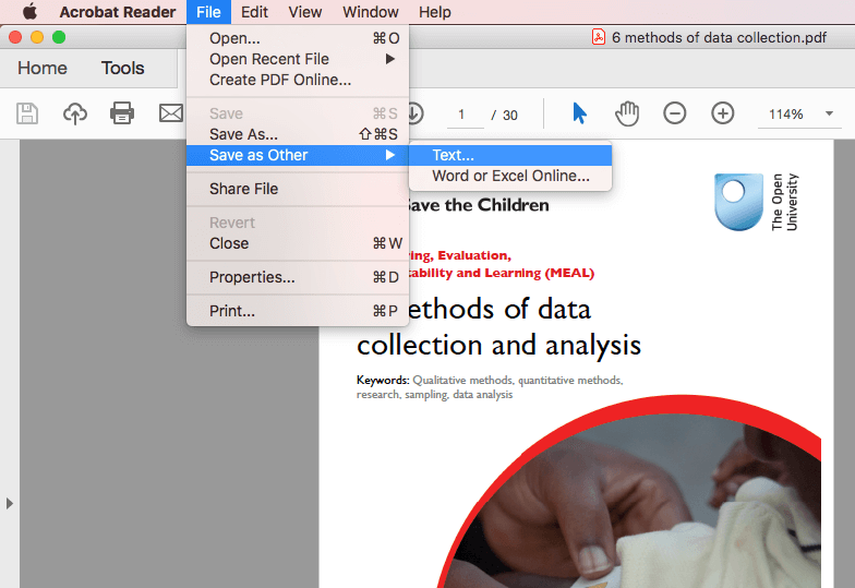 make PDF smaller in size in Acrobat Reader on Mac