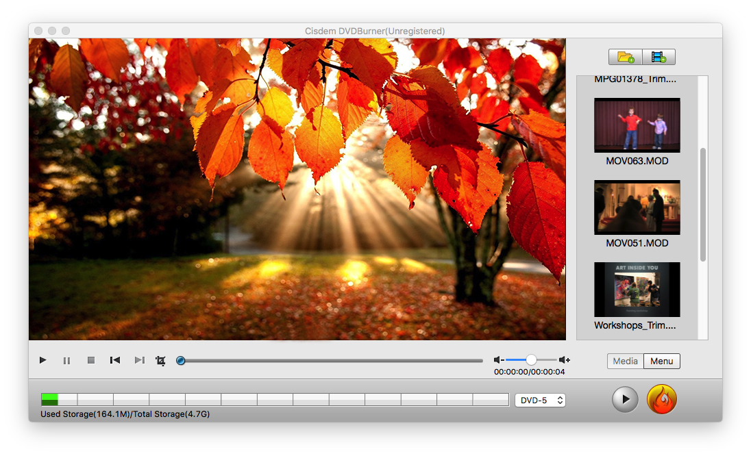 How to Make a DVD on Mac with DVD Burner Step 2
