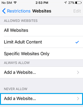 How to block specific websites on android mac iphone ipad and start blocking websites on iphone and ipad ccuart Images