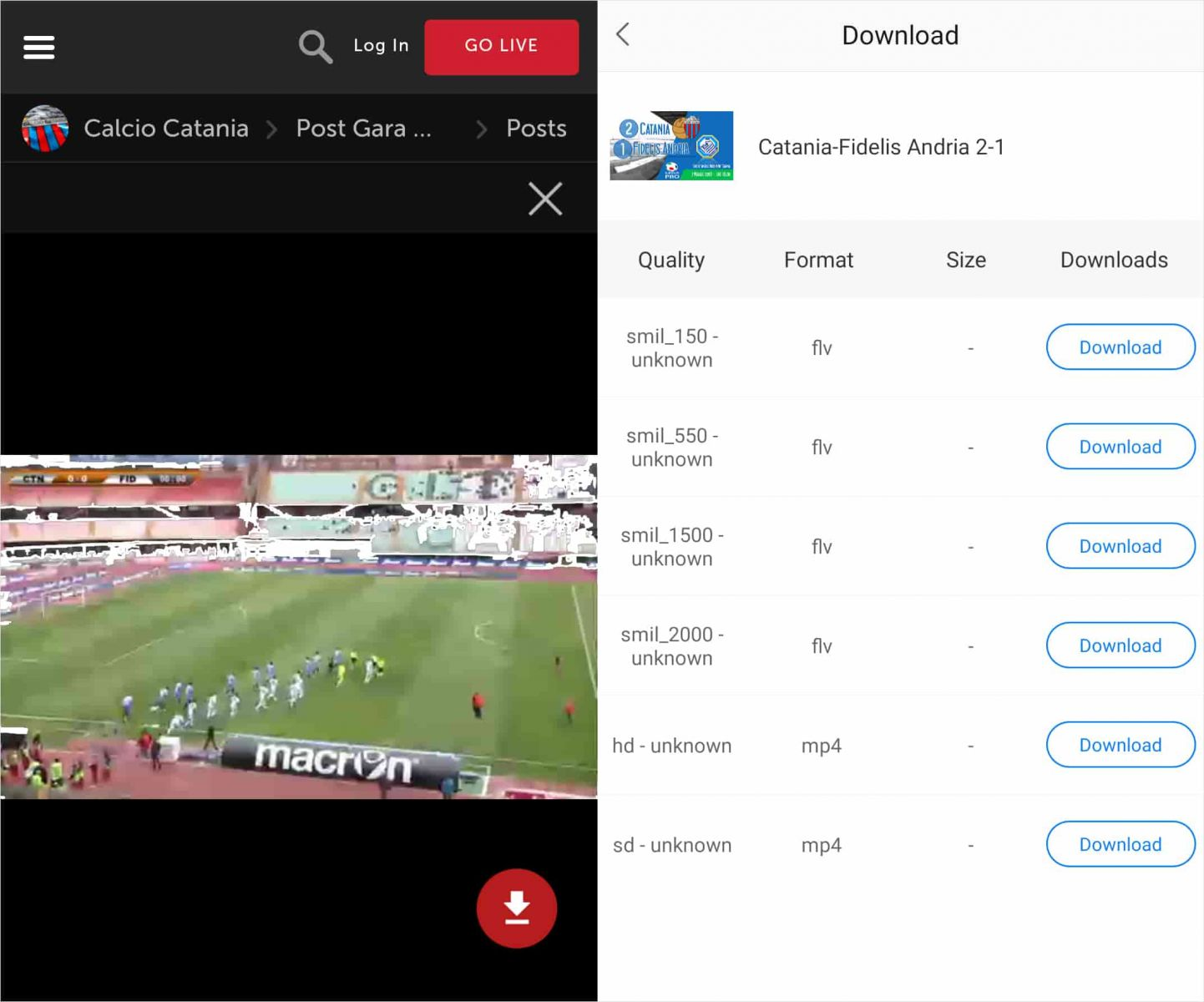 download livestream video android