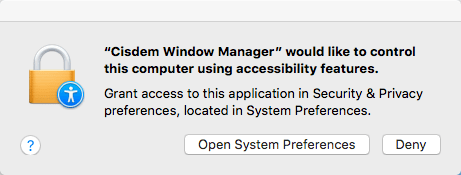 enable accessibility permissions